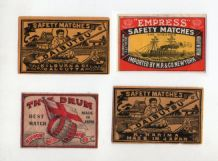 VERY OLD match box labels CHINA or JAPAN patriotic  #300